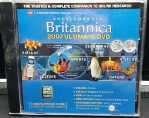 Encyclopedia Britannica 2007 Ultimate DVD - Mac/Windows, Brand New Sealed 🆓️📦