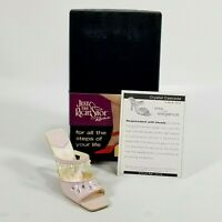Raine Just the Right Shoe COA Box Crystal Cascade 25318 Step Into Elegance
