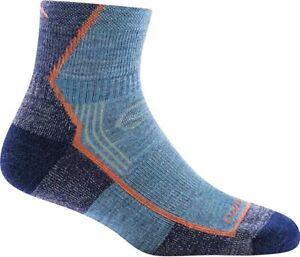 Darn Tough Women 248302 Denim Hiker 1/4 Cushion Crew Cut Socks Size M