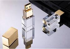 Personalized Custom Crystal USB 2.0 Flash Drive Photograph Wedding Pendrive 8GB