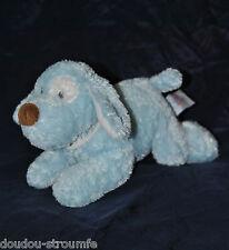 Peluche Doudou Chien Bleu GUND BABY Collier Blanc My First Puppy 24 Cm NEUF