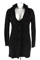 Fashionelle Strickjacke Cardigan Gr. T1=DE S Wolle Strick Knit Jacke Jacket