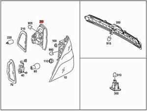 Genuine MERCEDES W166 GLE M-CLASS Inner Tail Light Rear Lamp Left 1669064101