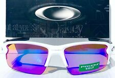 NEW* Oakley FLAK 2.0 WHITE Polished w PRIZM GOLF Iridium Lens Sunglass 9295