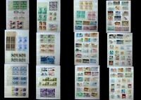 Stamp Collection of Numbered Blocks, Blocks & Different Stamps, Free Shipping