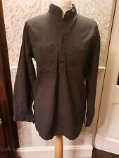 Jordash Black Shirt Nehru Collar New XL grandad shirt long sleeves