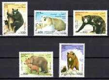 Animaux Ours Afghanistan (74) série complète 5 timbres oblitérés