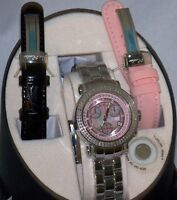 New Authentic womens joe rodeo Rio pink dial JRO4 1.25ct.aprx.real diamond watch
