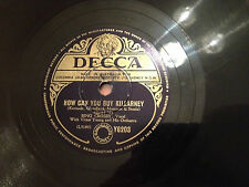 "BING CROSBY ""Dear Hearts And Gentle People""/""How Can You Buy Killarney"" 78rpm G+"