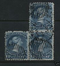 Canada #28 VF Used Block Of Three