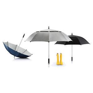 XD Hurricane Storm Umbrella (Black, Silver, Blue) Golf, Walking, Bride, Wedding