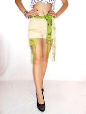 JACKY-O Women Vtg Beige High Waist Hand Custom Casual Hot Pants Shorts sz M AG38