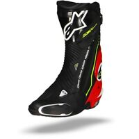 ALPINESTARS SMX PLUS BLACK RED FLUO WHITE YELLOW FLUO MOTORCYCLE BOOTS - NEW!