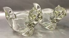 Avon Clear Crystal Squirrel Figurines Lot Of 2 Vintage 1970s - Tealight Candle
