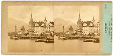 Stereo Suisse, Schweiz, Lucerne, Luzern, circa 1870 Vintage stereo card -  Tir