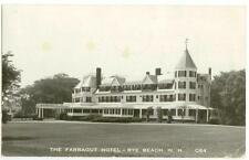 c1940s Rye Beach New Hampshire Farragut Hotel Real Photo - 1ct Prexie coil