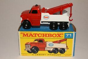 MATCHBOX LESNEY #71C FORD HEAVY WRECKER TOW TRUCK, EXCELLENT, BOXED TYPE F