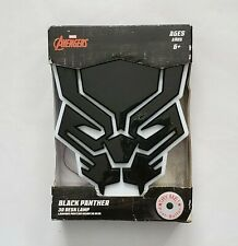"""Marvel Avengers Black Panther 3D Desk Lamp 6""""×5.5"""" New In Box Ages 6+, A13"""