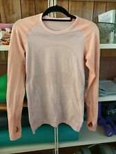 Lululemon Run Swiftly Tech long sleeve two tone peach Can 8
