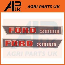 Ford 3000 Tractor Hood Bonnet Decal Sticker Set Kit Emblem Transfer Early