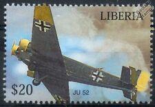 Luftwaffe JUNKERS JU-52 Transport Aircraft Stamp (Liberia)