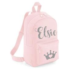 Personalised Crown Kids Backpack Any Name Tiara Girls Back To School Bag #MBPT