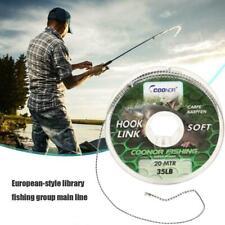 20m Carp Fishing Line Soft Hook Link Carp Hooklink Uncoated Hair Rig Line 2020