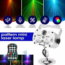 240 Muster Disco Lichteffekte Laser Projektor USB Party Bühnenbeleuchtung remote