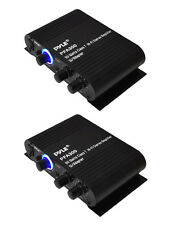 2) Pyle PFA300 180W 2 Channel Hi-Fi Home Audio Stereo Speakers Amplifiers w/Aux