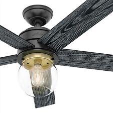 Hunter Fan 52 Em Preto Fosco Contemporânea Ventilador De Teto Com Kit De Luz E Controle Remoto