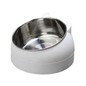 200/400/800ml Pet Cat Bowl Raised No Slip Stainless Steel Tilted Feeder Bowl
