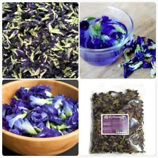 100% Pure Natural Dried Butterfly Pea Tea Blue Herbal Organic Flower Drink 50 g.