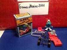 Super Smurf Go Cart W Berrie Rare  Figure Schleich Toy Car 40218 4.0218