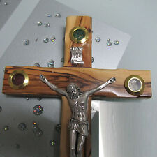 "CROSS - Jesus Christ Catholic Olive Wood Crucifix 10"" (25cm)"
