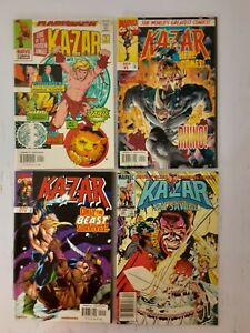 KA-ZAD LORD OF THE HIDDEN JUNGLE COMIC LOT OF 4 Number 1 (Marvel 1997) and more!