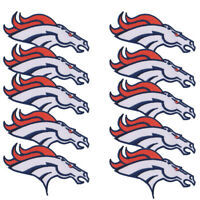 "10 pcs Denver Broncos Football Logo Size 4.3""x2.3"" Iron on Embroidered DIY Patch"