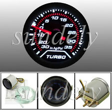 Universal 52mm 2″ LED Car Turbo Boost Pressure Gauge Meter Smoked 0 - 35 Psi