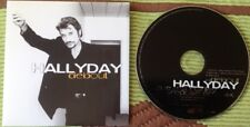 JOHNNY HALLYDAY CD DEUX TITRES  ETAT NEUF . DEBOUT .