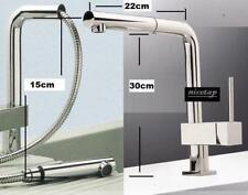 Single Lever Mixer Kitchen Tap With Pull Out Swivel Spray Shower Spout #78