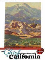 ART PRINT TRAVEL TRAIN RAIL ROUTE LANDSCAPE CAJON PASS CALIFORNIA USA NOFL1392
