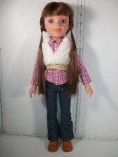 "Paradise Kids LLC 17"" Doll Jointed Slim Plastic Body Original Clothes Blue Eyes"