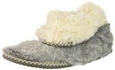Dearfoams Women's Faux Fur Foldown Boot Slippers- Grey Frost, XL/11-12