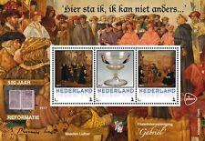 Pers.velletje van 3 ;500 jaar Reformatie PF SPECIALE UITVOERING IN MAPJE UNIEK!