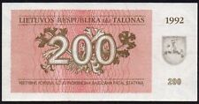 Lithuania Note Banknotes with Uncirculated