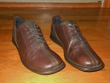 ECCO Women's oxfords - Size 7 M - UK size 5 - Brown + green - Excellent cond