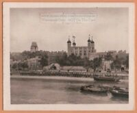 Tower of London  England 1920s Ad Trade Card