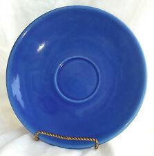 "LG Metlox Saucer 7"" VTG Royal Blue California Pottery No Cup Oversized XLT USA"