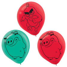 ANGRY BIRDS 2 LATEX BALLOONS (6) ~ Birthday Party Supplies Helium Decorations