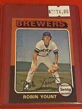 1975 Topps MINI Baseball Card Set #223 Milwaukee Brewers ROOKIE RC ROBIN YOUNT