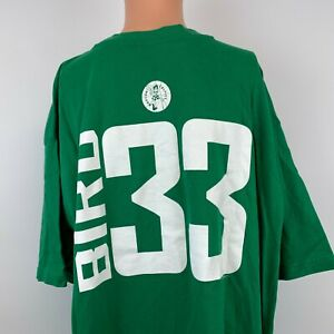 Majestic Larry Bird Boston Celtics Jersey T Shirt NBA Basketball Green Size 3XL